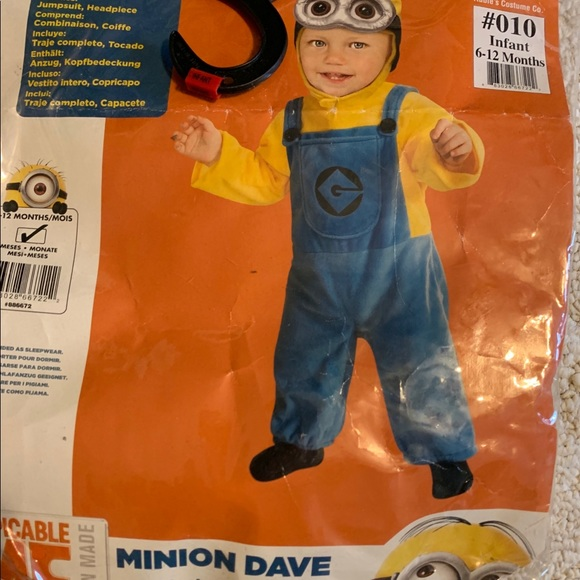 Minion Infant 6-12 month Costume New